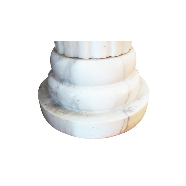 Fluted Marble Column Object - Image 4 of 6