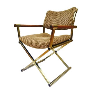 Mid Century Modern Directors Chair Desk Chair Safari Campaign Chair