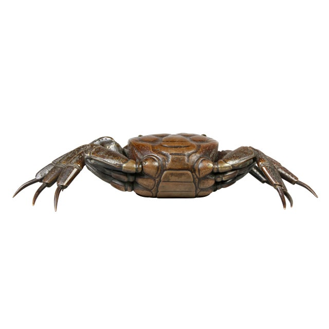 Bronze Japanese Meiji Articulated Bronze Crab For Sale - Image 8 of 10