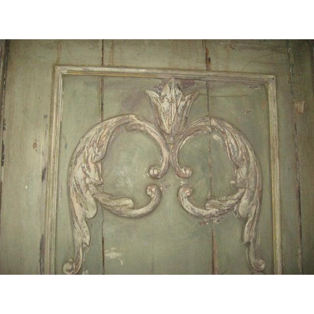 18th Century Louis XVI Painted Panel Door For Sale - Image 11 of 12