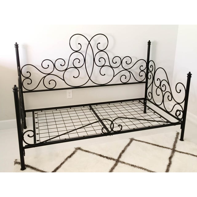 Boho Chic Pottery Barn Amalie Iron Daybed For Sale - Image 3 of 12