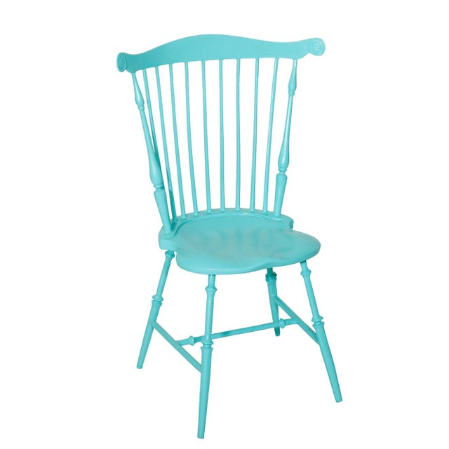 American Fanback Outdoor Chair in Porcelain Edge For Sale - Image 3 of 3