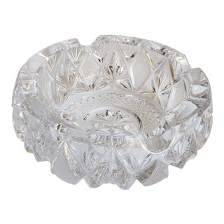 Vintage Pressed Glass Ashtray For Sale