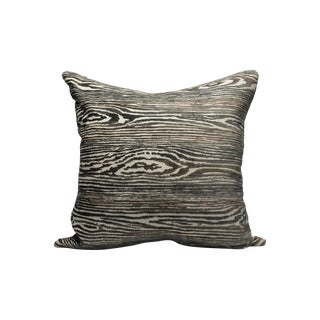 Scalamandre Muir Woods Pillow, Graphite For Sale