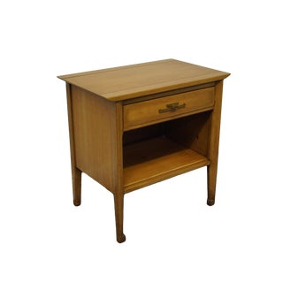 "White of Mebane Walnut Asian Inspired Mid Century Modern 25"" Open Cabinet Nightstand - 6800-12 For Sale"
