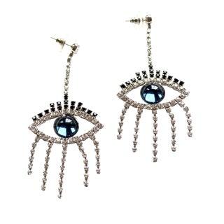 Smokey Blue Eye Earring For Sale