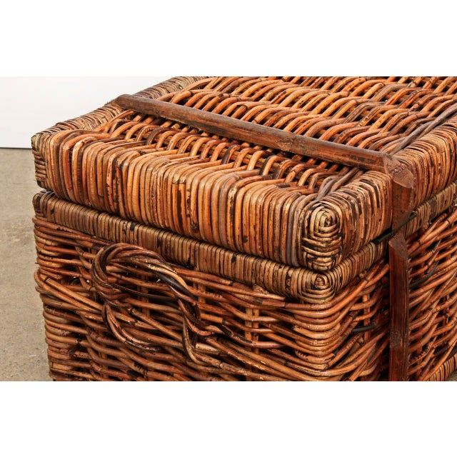 Cargo Garden Furniture Vintage style rattan cargo trunks set of 3 chairish vintage style rattan cargo trunks set of 3 image 9 of 11 workwithnaturefo