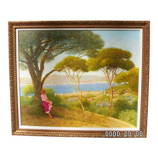 2005 St. Tropez Au Loin Oil Painting For Sale
