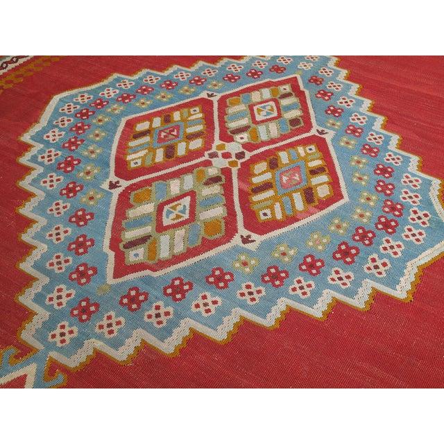 Antique Oushak Kilim - 12′4″ × 14′10″ For Sale - Image 4 of 8