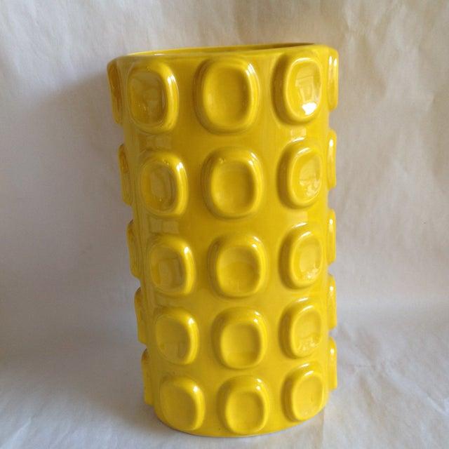 Modern Yellow Ceramic Vase - Image 2 of 10