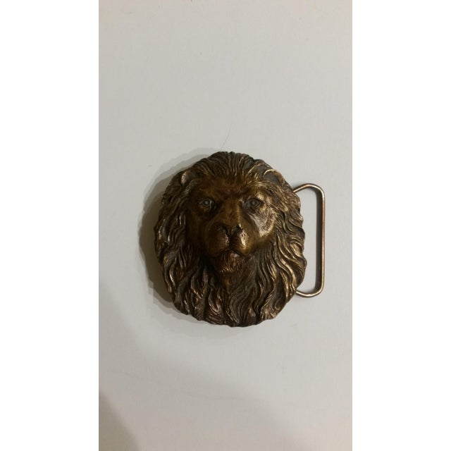 Vintage Lion's Head Belt Buckle - Image 4 of 4