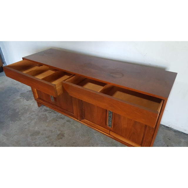 Wood 1960s Mid Century Modern John Keal for Brown Saltman Walnut Credenza For Sale - Image 7 of 13