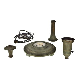 Vintage Miller Co. Torchiere Floor Lamp Parts - Set of 5