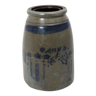 Antique American Patriotic Stoneware Storage Jar For Sale
