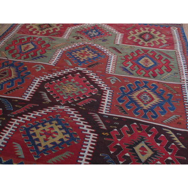 Kilim with Ascending Arches For Sale - Image 4 of 10