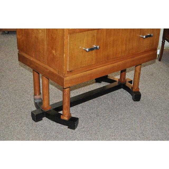 1930's Art Deco Drop Front Desk - Image 7 of 9