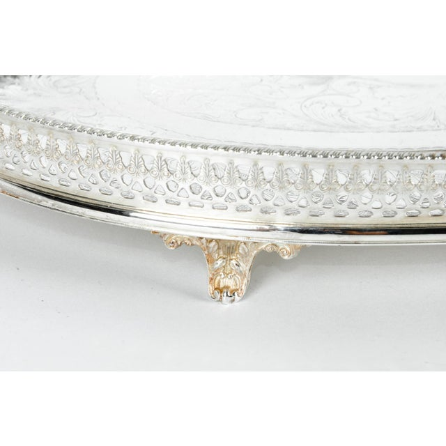 Mid 20th Century English Sheffield Gallery Tray For Sale - Image 5 of 7