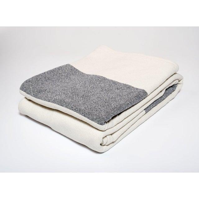 Contemporary Bold Stripe Blanket Indigo - Twin For Sale - Image 3 of 3