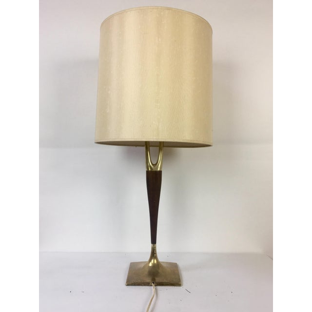 1960s Gerald Thurston Mid-Century Wishbone Table Lamp for Laurel Lamp Co. For Sale - Image 5 of 9
