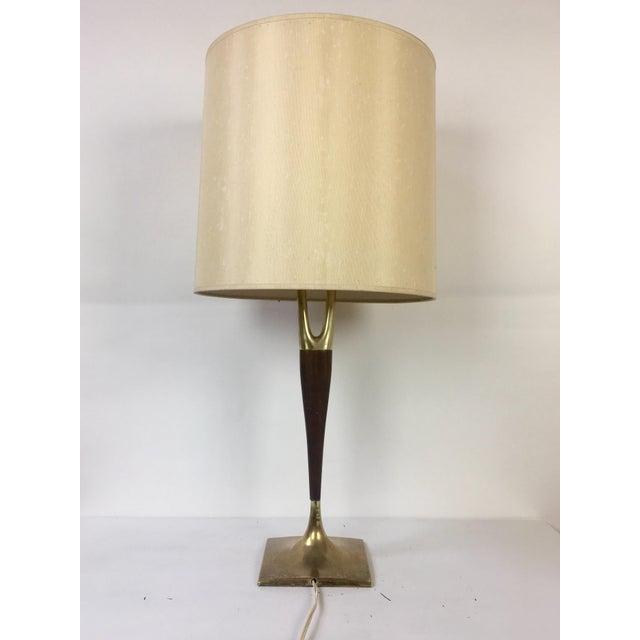 Gerald Thurston Mid-Century Wishbone Table Lamp for Laurel Lamp Co. - Image 5 of 9