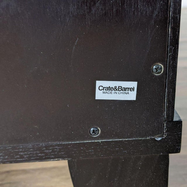 Wood Crate & Barrel Espresso Bar Cabinet For Sale - Image 7 of 9