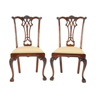 Mahogany Chippendale Side Chairs - Pair For Sale