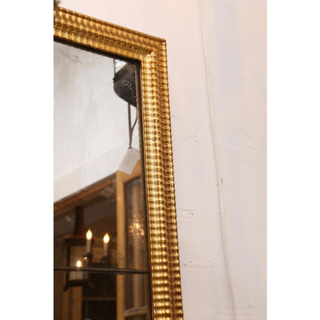 Wood Louis XVI Gilded Mirror For Sale - Image 7 of 8