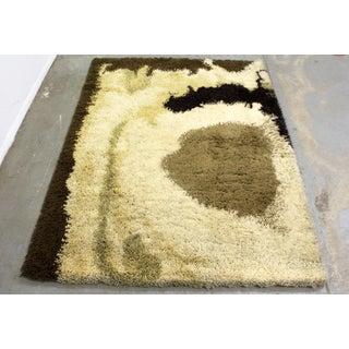 "Mid-Century Danish Modern Ege Rya Wool Shag Rug 'Sunrise Lo' 78"" X 58"" Preview"