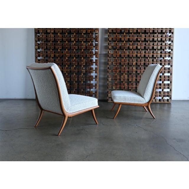 Mid-Century Modern t.h. Robsjohn-Gibbings Slipper Chairs for Widdicomb Circa 1955 For Sale - Image 3 of 12