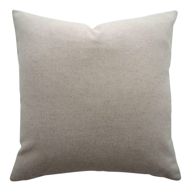 FirmaMenta Italian Cream Sustainable Wool Pillow For Sale