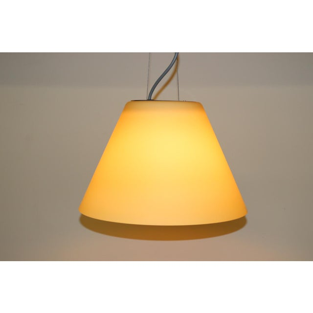 Mid-Century Modern Pendant Lamp by Carlo Nason for Itre Murano Amber Glass For Sale In New York - Image 6 of 12