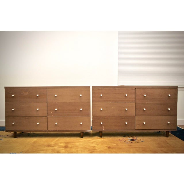 Midcentury Modern 6-Drawer Dressers, a Pair - Image 11 of 11