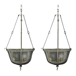 Antique French Lanterns - a Pair
