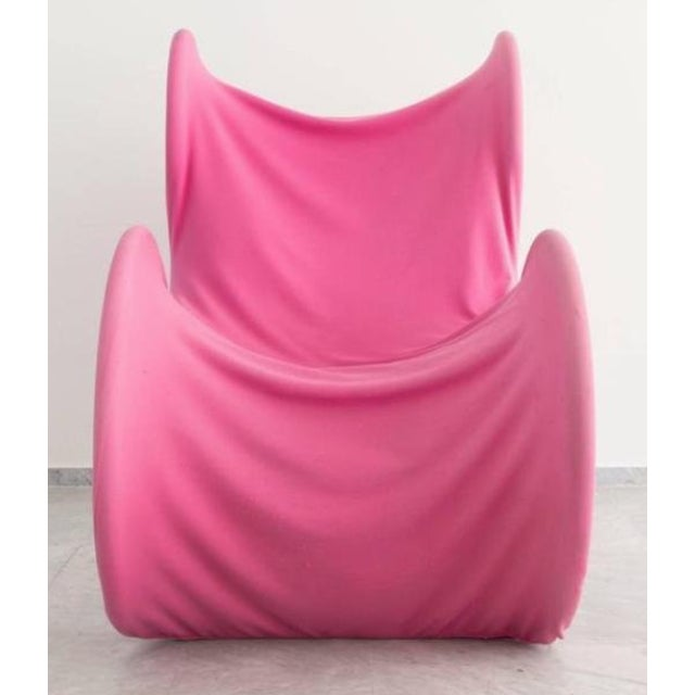 Mid-Century Modern Pink Fiocco Chair by Gianni Pareschi for Busnelli For Sale - Image 3 of 6