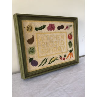 Vintage Mid Century Colorful Needlepoint Preview