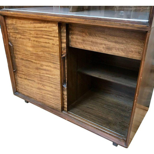Gold 1950s Mid-Century Modern Milo Baughman for Drexel Perspective Mindoro Wood China Hutch For Sale - Image 8 of 12
