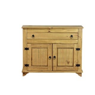 Lisa 2 Door Cabinet Sideboard Honey