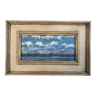 """""""Big Break Clouds"""" Oil Landscape Painting For Sale"""