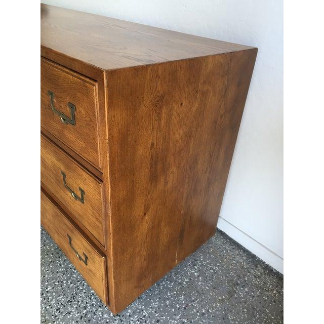 Campaign 1960s Vintage Henredon Artefacts Campaign Dresser For Sale - Image 3 of 6