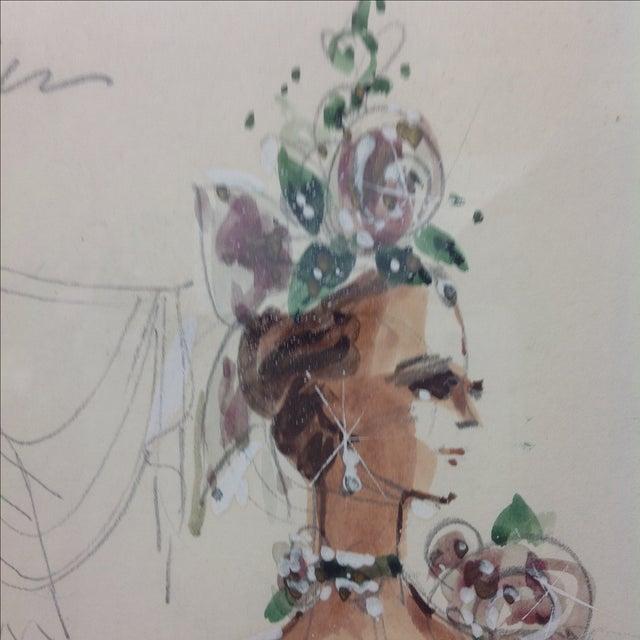 "1990s Original Winn Morton Gown Design ""Rose Garden"" For Sale - Image 5 of 7"