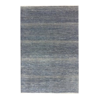 """One-of-a-Kind Contemporary Handmade Area Rug 6' 1"""" x 9' 2"""" For Sale"""