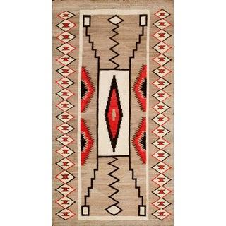 Antique Tan Navajo Rug For Sale