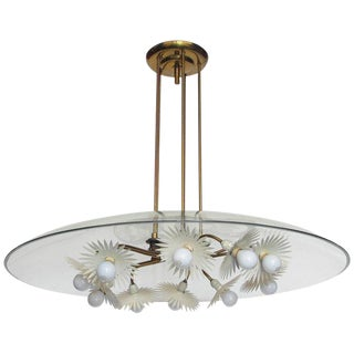 Pietro Chiesa Chandelier for Fontana Arte For Sale