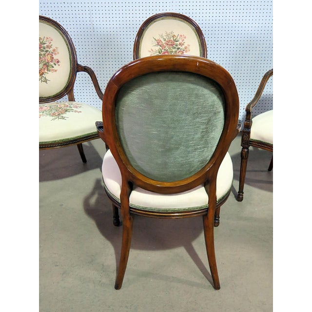 Set of 4 Adams Style Arm Chairs For Sale In Philadelphia - Image 6 of 9