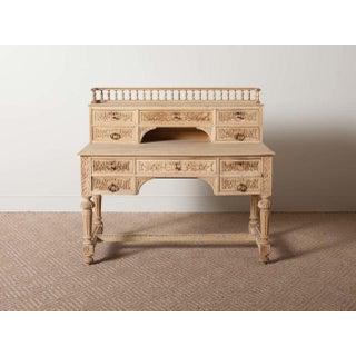 Antique Carved Oak Writing Desk Preview