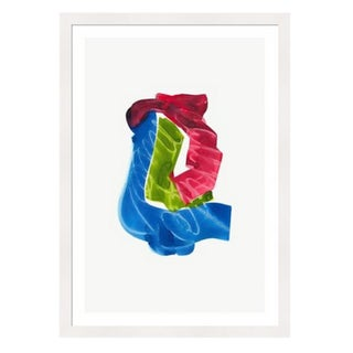 Framed in White 'Color Study 8' Watercolor Print on Textured Paper by Encarnacion Portal Rubio For Sale