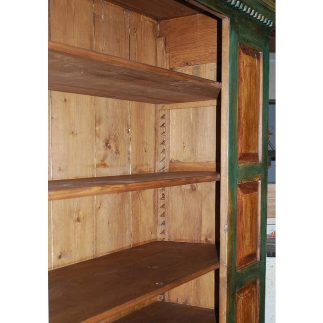 Green Large Green and Red Painted Armoire For Sale - Image 8 of 10