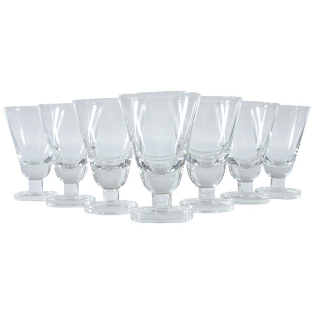 Heavy Footed French Shot Glasses - Set of 7 - Image 1 of 3