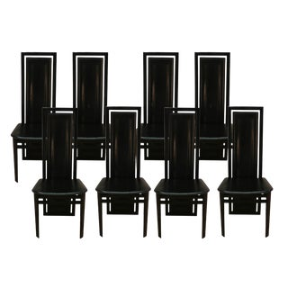 A. Sibau Italian Scuptural High Back Dining Chairs