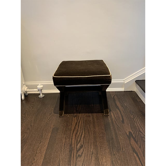 Brown Jonathan Adler X-Bench with white trim. Lightly used.